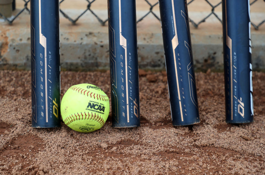 NCAA Softball and bats (Photo by Andy Mead/ISI Photos/Getty Images)