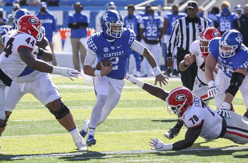 Kentucky Wildcats quarterback Joey Gatewood ( Credit: Katie Stratman-USA TODAY Sports)