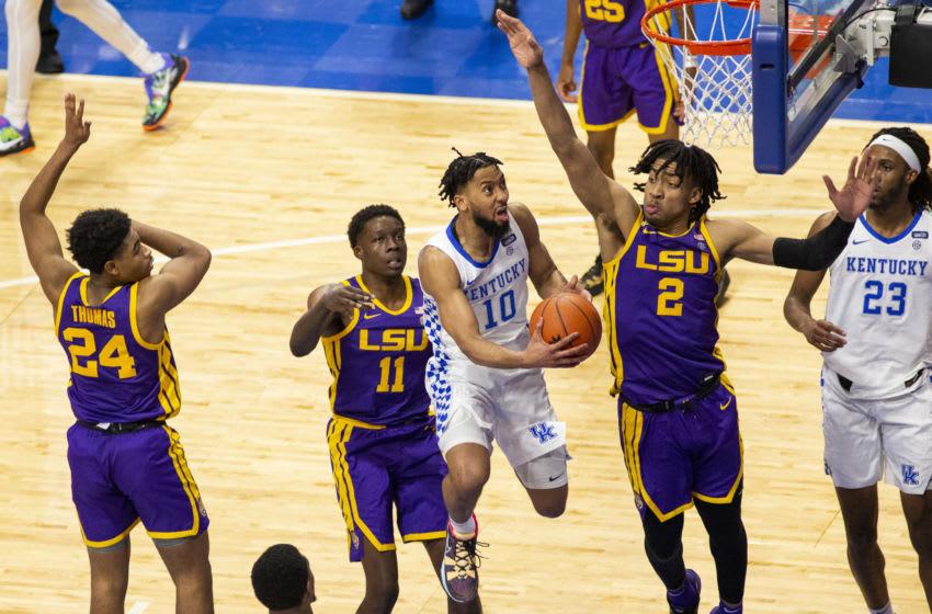 Kentucky Wildcats guard Davion Mintz .Credit: Arden Barnes-USA TODAY Sports