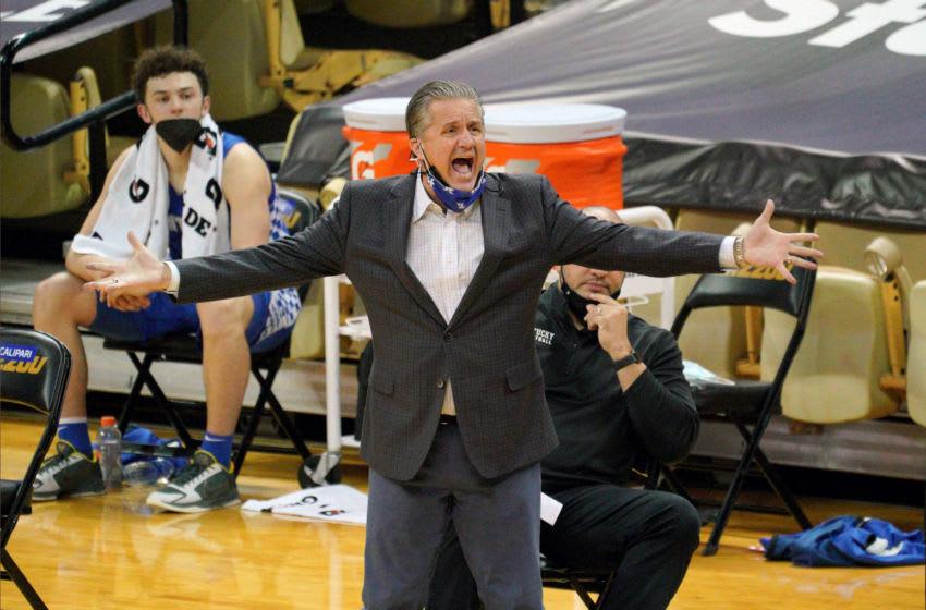 Kentucky Wildcats head coach John Calipari (Credit: Denny Medley-USA TODAY Sports)