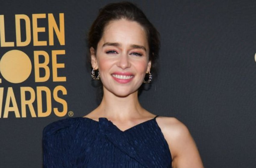 WEST HOLLYWOOD, CALIFORNIA - NOVEMBER 14: Emilia Clarke attends the HFPA and THR Golden Globe Ambassador Party at Catch LA on November 14, 2019 in West Hollywood, California. (Photo by Rodin Eckenroth/Getty Images)