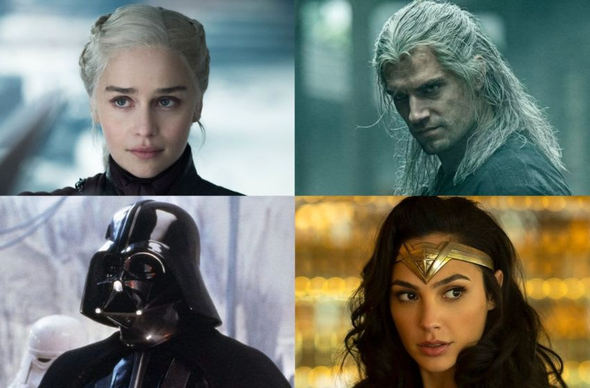 Game of Thrones, The Witcher, Star Wars, Wonder Woman