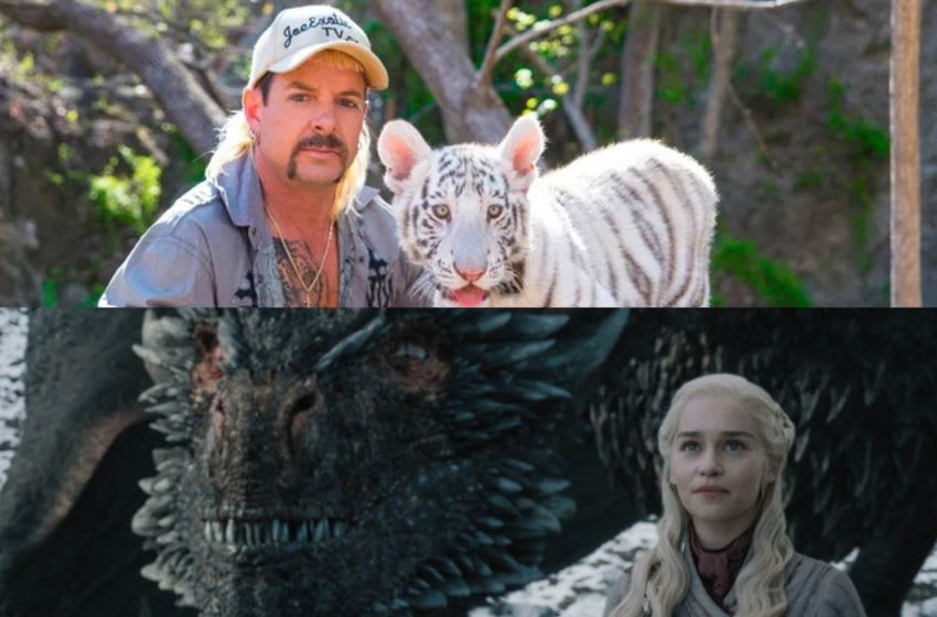 Image: Game of Thrones/HBO, The Tiger King/Netflix