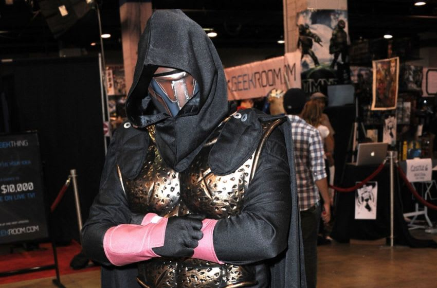 ROSEMONT, IL - AUGUST 10: Cosplayer Brian Gurak as Dark Revan attends Day 2 of Wizard World Chicago Comic Con held at Donald E. Stephens Convention Center on August 10, 2013 in Rosemont, Illinois. (Photo by Albert L. Ortega/Getty Images)
