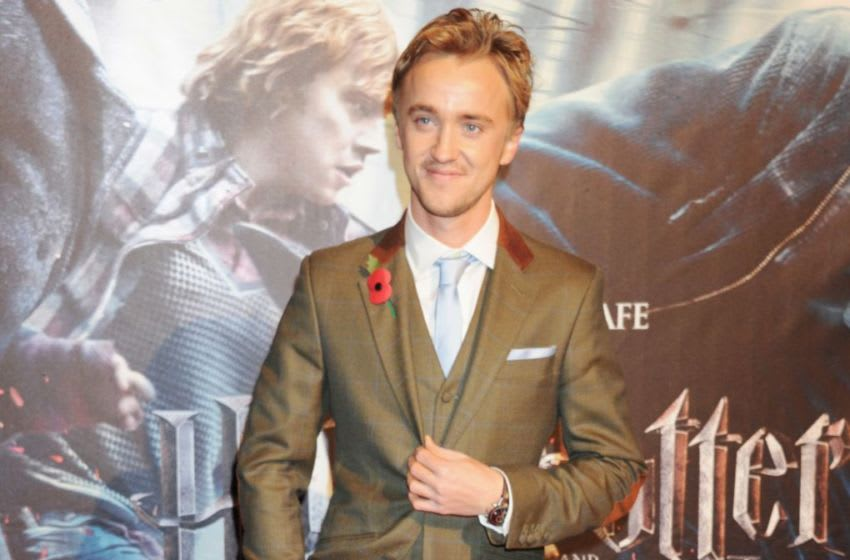 LONDON, ENGLAND - NOVEMBER 11: (EMBARGOED FOR PUBLICATION IN UK TABLOID NEWSPAPERS UNTIL 48 HOURS AFTER CREATE DATE AND TIME. MANDATORY CREDIT PHOTO BY DAVE M. BENETT/GETTY IMAGES REQUIRED) Actor Tom Felton attends the world premiere of Harry Potter And The Deathly Hallows: Part 1 at Odeon Leicester Square on November 11, 2010 in London, England. (Photo by Dave M. Benett/Getty Images)