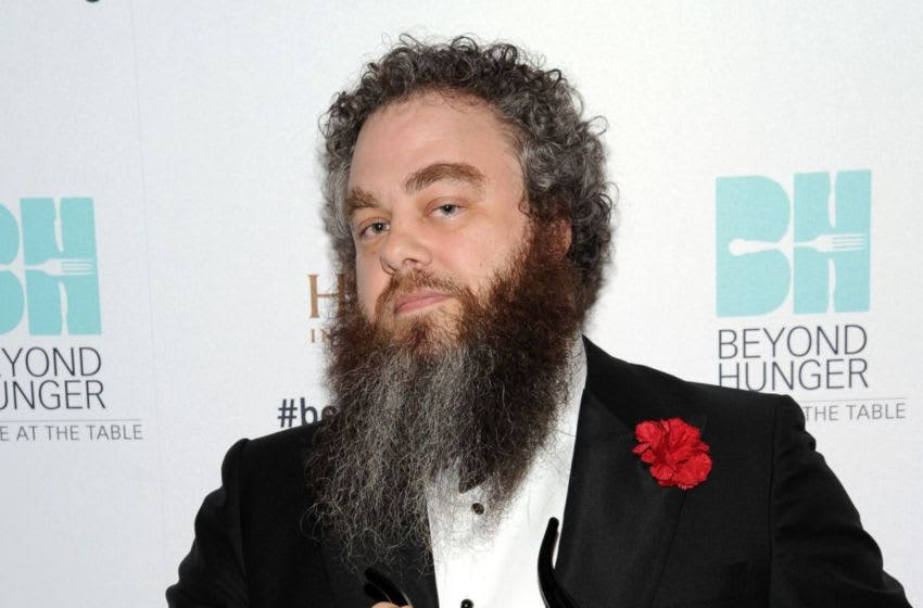 BEVERLY HILLS, CA - SEPTEMBER 18: Honoree Patrick Rothfuss poses at Heifer Internationals 4th Annual Beyond Hunger Gala at the Montage on September 18, 2015 in Beverly Hills, California. Heifer International works to end hunger and poverty while caring for the Earth. . (Photo by Angela Weiss/Getty Images for Heifer International)