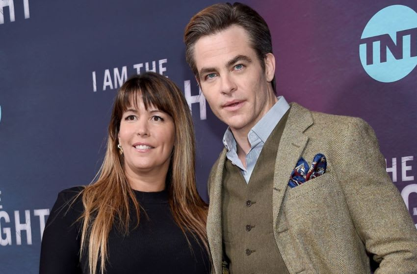 LOS ANGELES, CA - JANUARY 24: Patty Jenkins and Chris Pine attend the Premiere Of TNT's