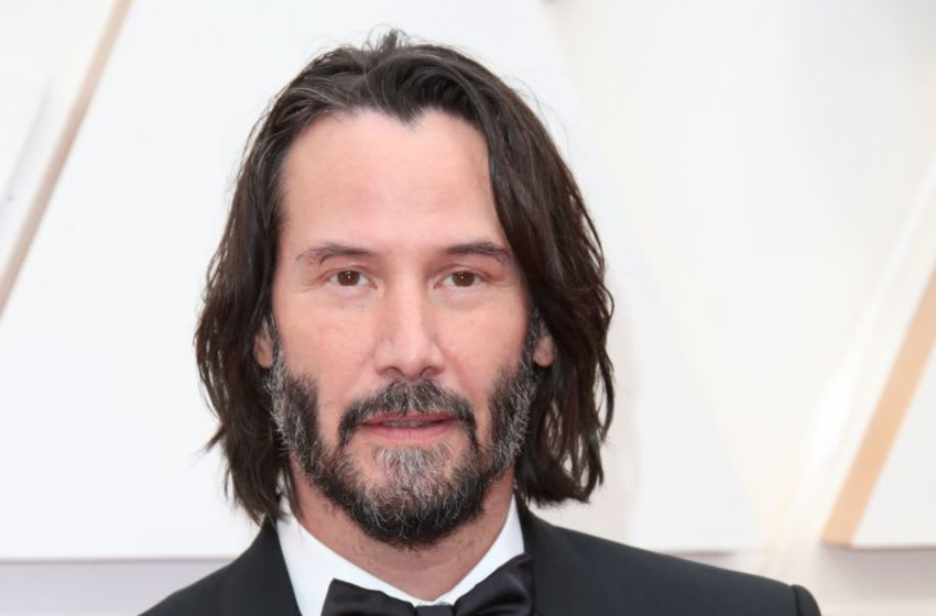 Feb 9, 2020; Los Angeles, CA, USA; Keanu Reeves arrives at the 92nd Academy Awards at Dolby Theatre. Mandatory Credit: Dan MacMedan-USA TODAY