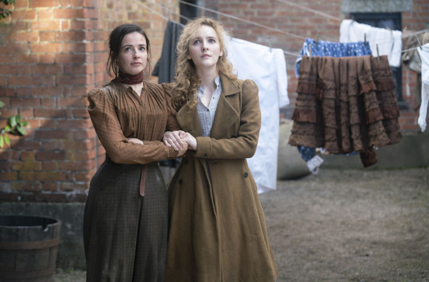 Ann Skelly and Laura Donnelly. HBO The Nevers Season 1 - Episode 5. Photograph by HBO / Keith Bernstein.