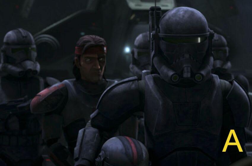 Imperial troops escort Hunter.