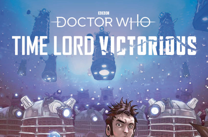 The Daleks had previously allied with the Tenth Doctor in Time Lord Victorious comic story Defender of the Daleks. Will they have more luck with his Eighth self? Image Courtesy Titan Comics