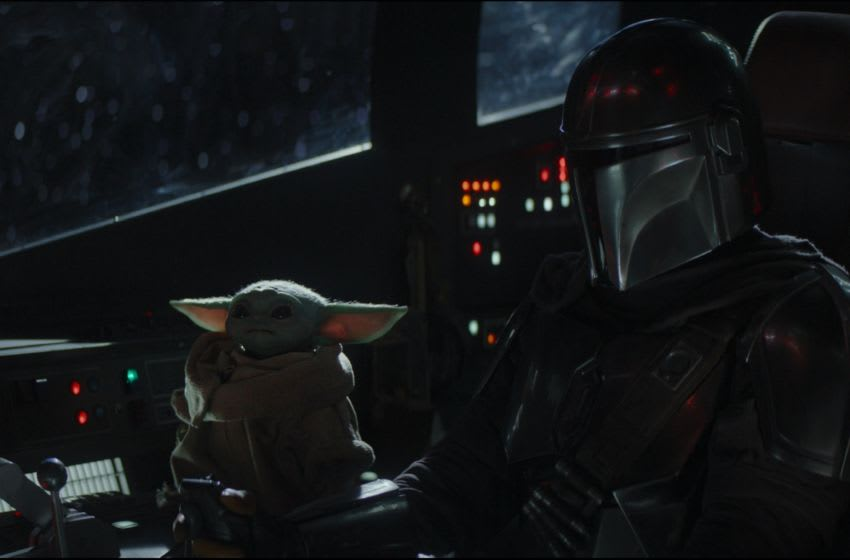 Chapter 4. The Mandalorian (Pedro Pascal) and the Child in THE MANDALORIAN, exclusively on Disney+
