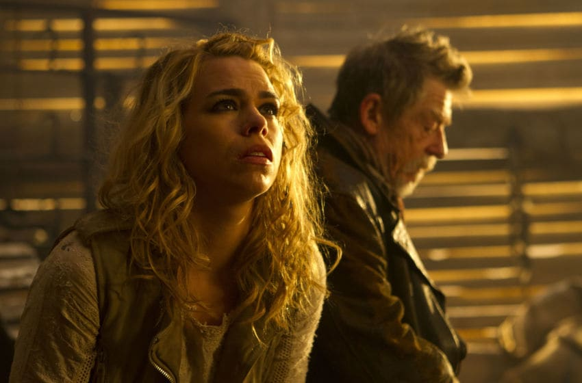 Picture shows: BILLIE PIPER as Rose Tyler and JOHN HURT as The Doctor in the 50th Anniversary Special - The Day of the Doctor