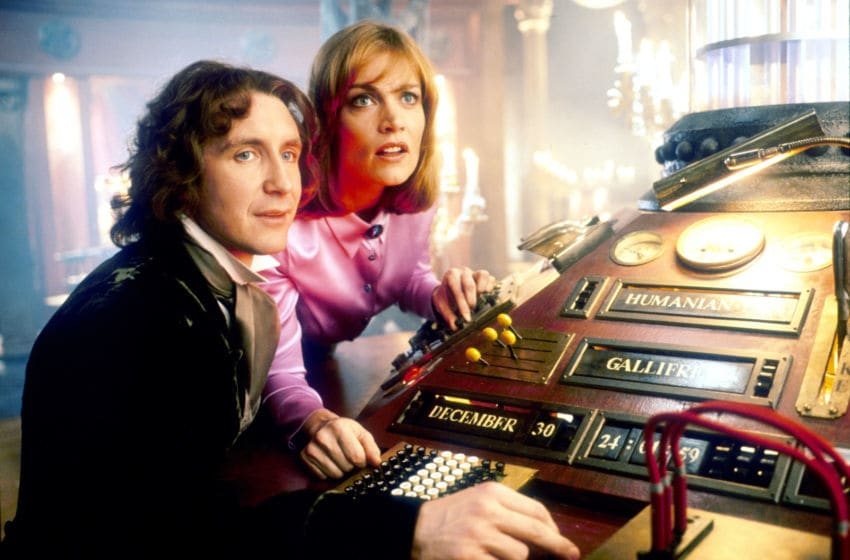 Picture Shows: Paul McGann as The Doctor and Daphne Ashbrook as Dr Grace Holloway. Image Courtesy Aaron Rappaport/BBC