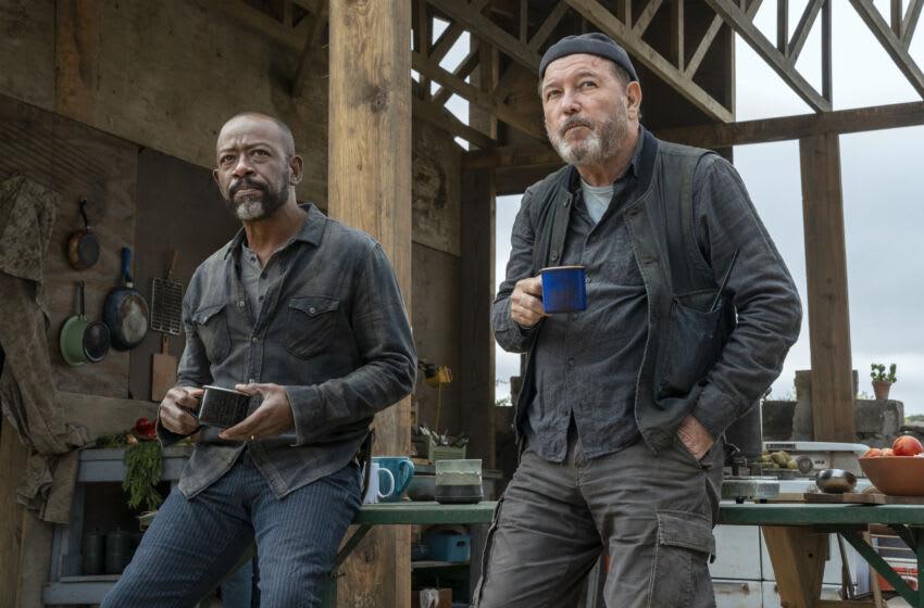 Lennie James as Morgan Jones, Rubén Blades as Daniel Salazar - Fear the Walking Dead _ Season 6, Episode 10 - Photo Credit: Ryan Green/AMC