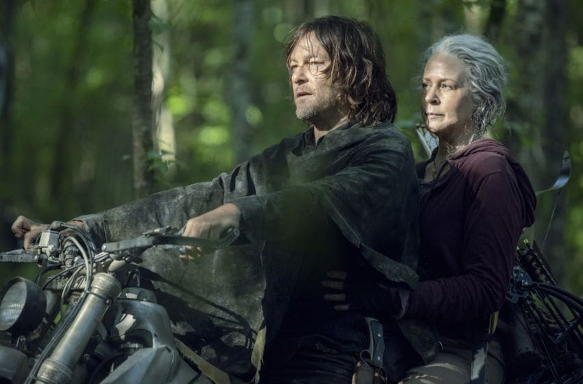 Norman Reedus as Daryl Dixon, Melissa McBride as Carol Peletier - The Walking Dead _ Season 10 - Photo Credit: Jackson Lee Davis/AMC