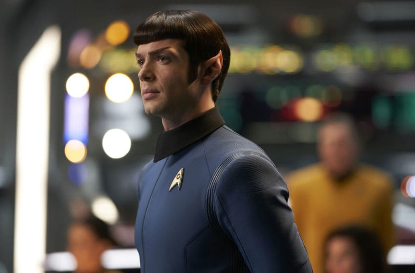 Such Sweet Sorrow, Part 2-- Ep#214 -- Pictured: Ethan Peck as Spock of the CBS All Access series STAR TREK: DISCOVERY. Photo Cr: Russ Martin/CBS ©2018 CBS Interactive, Inc. All Rights Reserved.