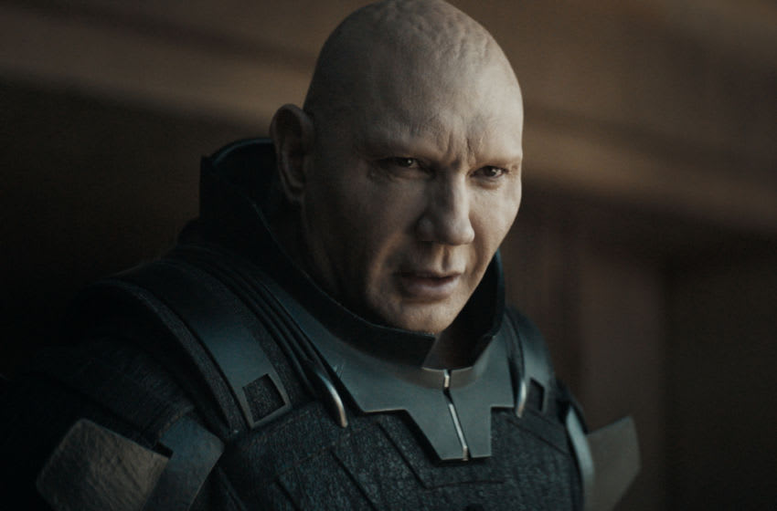 """DAVE BAUTISTA as Rabban Harkonnen in Warner Bros. Pictures' and Legendary Pictures' action adventure """"DUNE,"""" a Warner Bros. Pictures and Legendary release.. Courtesy of Warner Bros. Pictures and Legendary Pictures"""
