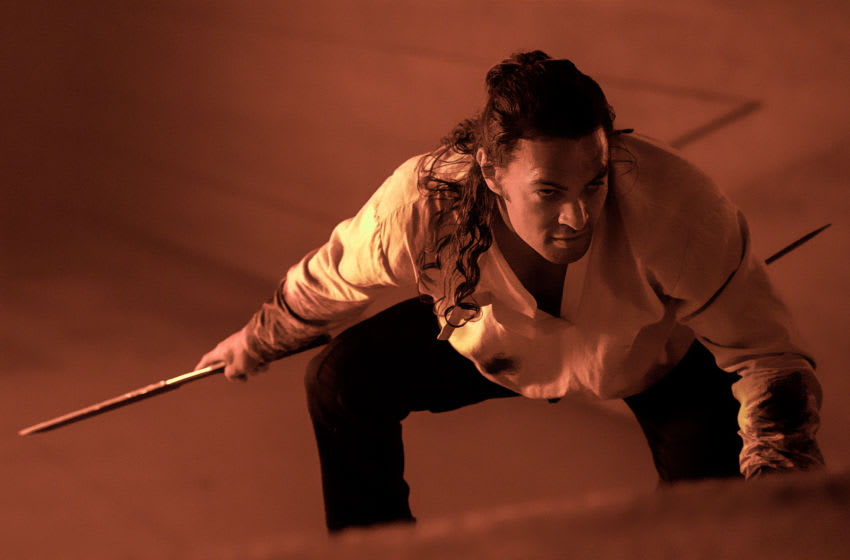 """JASON MOMOA as Duncan Idaho in Warner Bros. Pictures and Legendary Pictures' action adventure """"DUNE,"""" a Warner Bros. Pictures release. Courtesy of Warner Bros. Pictures and Legendary Pictures, Chiabella James"""