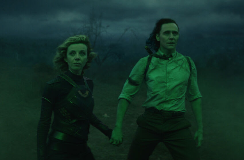 (L-R): Sylvie (Sophia Di Martino) and Loki (Tom Hiddleston) in Marvel Studios' LOKI, exclusively on Disney+. Photo courtesy of Marvel Studios. ©Marvel Studios 2021. All Rights Reserved.