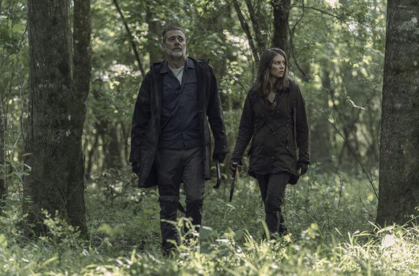 Lauren Cohan as Maggie Rhee, Jeffrey Dean Morgan as Negan - The Walking Dead _ Season 11, Episode 5 - Photo Credit: Josh Stringer/AMC