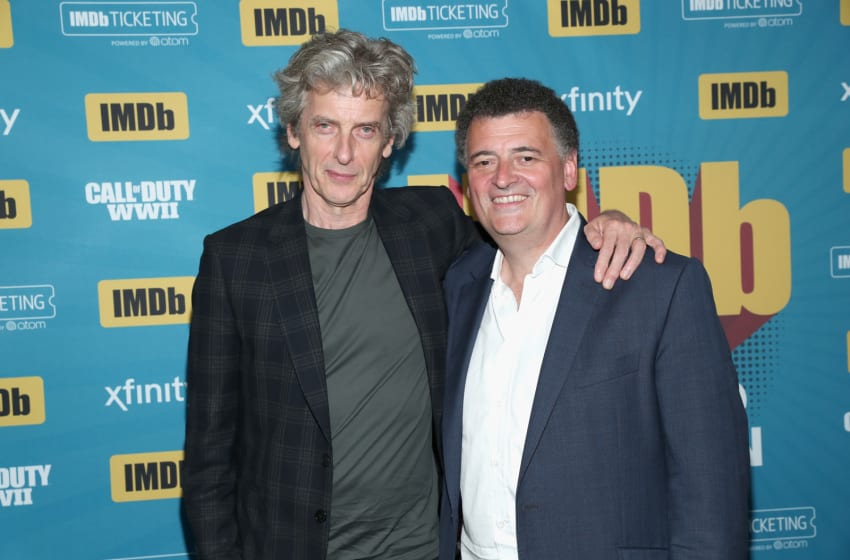 It may be almost two years since they last worked on Doctor Who, but that hasn't stopped Capaldi from praising Moffat during a convention in Boston last week. (Photo by Rich Polk/Getty Images for IMDb)