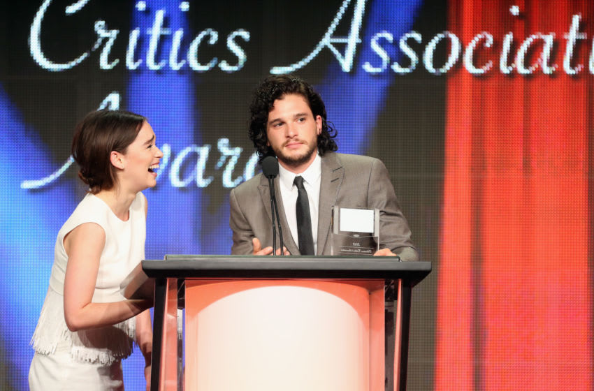 BEVERLY HILLS, CA - AUGUST 03: Actors Emilia Clarke and Kit Harington attend the 29th Annual Television Critics Association Awards at the Beverly Hilton Hotel on August 3, 2013 in Beverly Hills, California. (Photo by Frederick M. Brown/Getty Images)