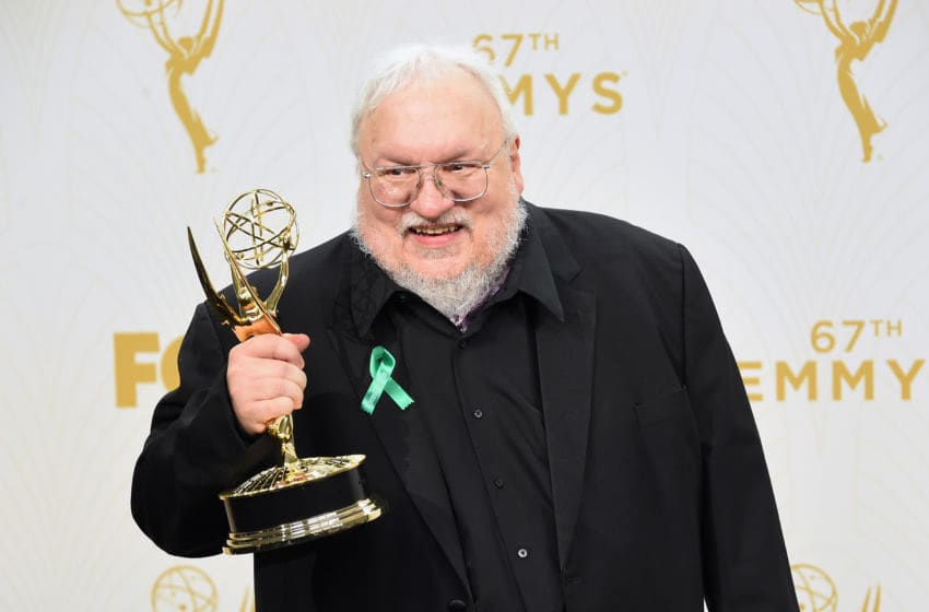 LOS ANGELES, CA - SEPTEMBER 20: Writer George R. R. Martin, winner of Outstanding Drama Series for 'Game of Thrones', poses in the press room at the 67th Annual Primetime Emmy Awards at Microsoft Theater on September 20, 2015 in Los Angeles, California. (Photo by Jason Merritt/Getty Images)