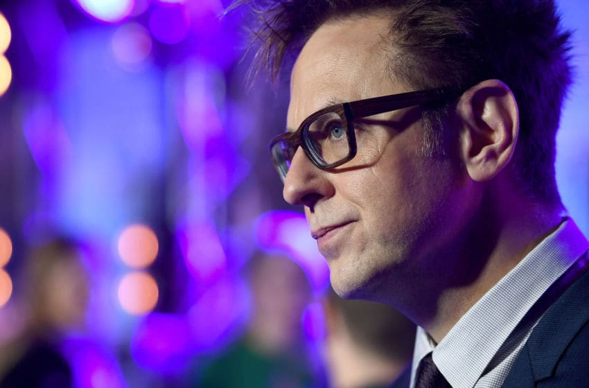 LONDON, ENGLAND - APRIL 24: Director James Gunn attends the European launch event of Marvel Studios'