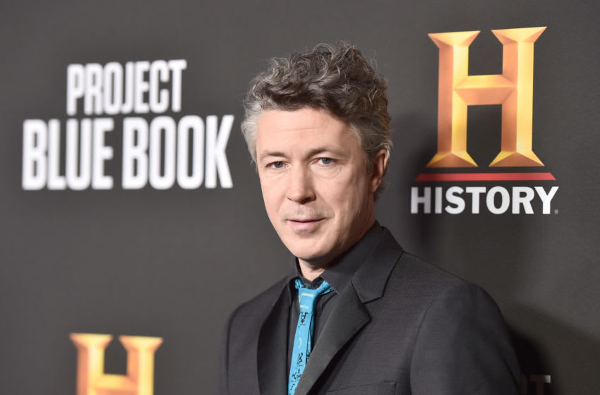 BEVERLY HILLS, CALIFORNIA - JANUARY 03: Aidan Gillen attends the premiere of History Channel's