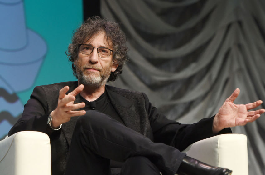AUSTIN, TX - MARCH 09: Neil Gaiman speaks onstage at Featured Session: Neil Gaiman during the 2019 SXSW Conference and Festivals at Austin Convention Center on March 9, 2019 in Austin, Texas. (Photo by JEALEX Photo/Getty Images for SXSW)