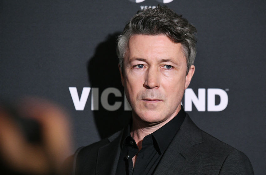 NEW YORK, NEW YORK - MARCH 27: Aidan Gillen of History's Project Blue Book attends the 2019 A+E Networks Upfront at Jazz at Lincoln Center on March 27, 2019 in New York City. (Photo by Bryan Bedder/Getty Images for A+E Networks )