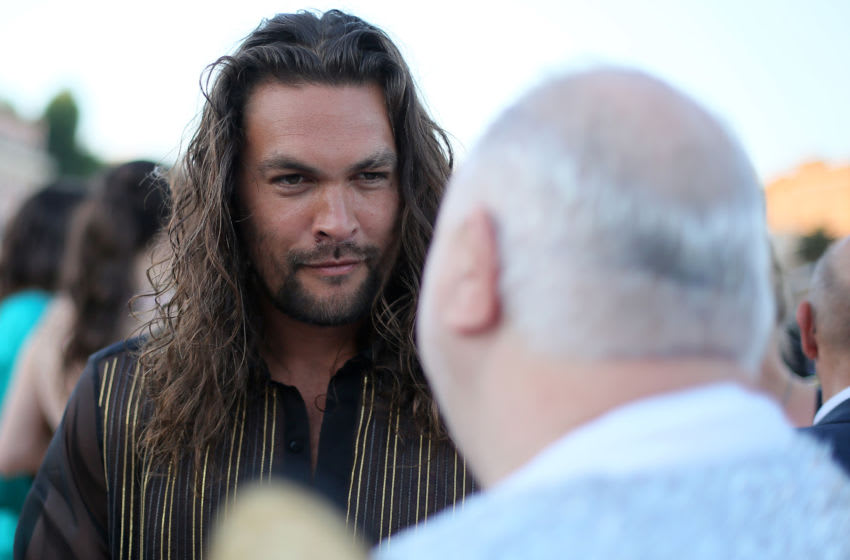 ROME, ITALY - JULY 04: Jason Momoa attends the Cocktail at Fendi Couture Fall Winter 2019/2020 on July 04, 2019 in Rome, Italy. (Photo by Ernesto S. Ruscio/Getty Images for Fendi)