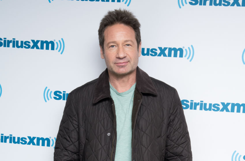 NEW YORK, NY - JANUARY 23: Actor David Duchovny visits the SiriusXM Studios on January 23, 2018 in New York City. (Photo by Noam Galai/Getty Images)