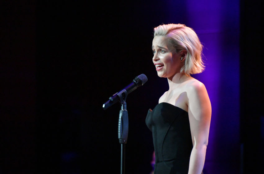 NEW YORK, NY - MAY 29: Actress Emilia Clarke performs onstage during Lincoln Center's American Songbook Gala at Alice Tully Hall on May 29, 2018 in New York City. (Photo by Dia Dipasupil/Getty Images for Lincoln Center)