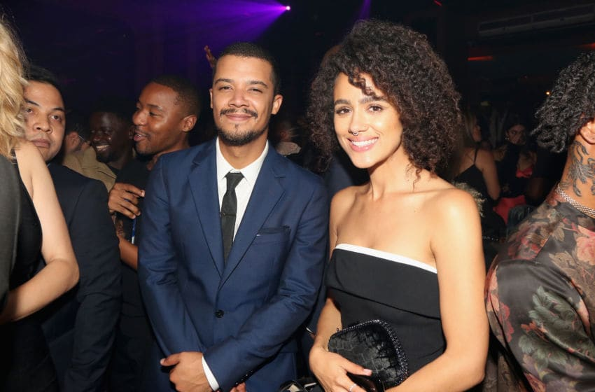 LOS ANGELES, CA - SEPTEMBER 17: Jacob Anderson (L) and Nathalie Emmanuel attend Celebrating the Culture Powered by Samsung Galaxy at Avenue on September 17, 2018 in Los Angeles, California. (Photo by Maury Phillips/Getty Images for Samsung )