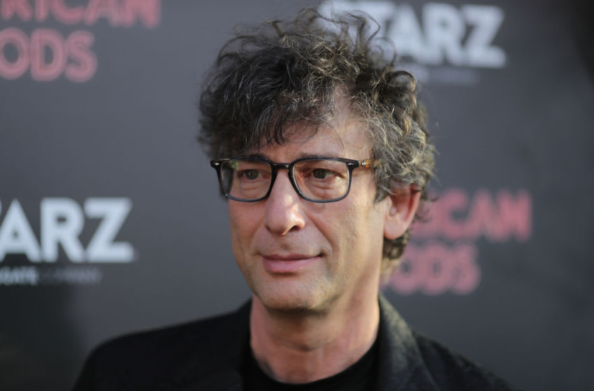 HOLLYWOOD, CA - APRIL 20: Writer Neil Gaiman attends the premiere of Starz's
