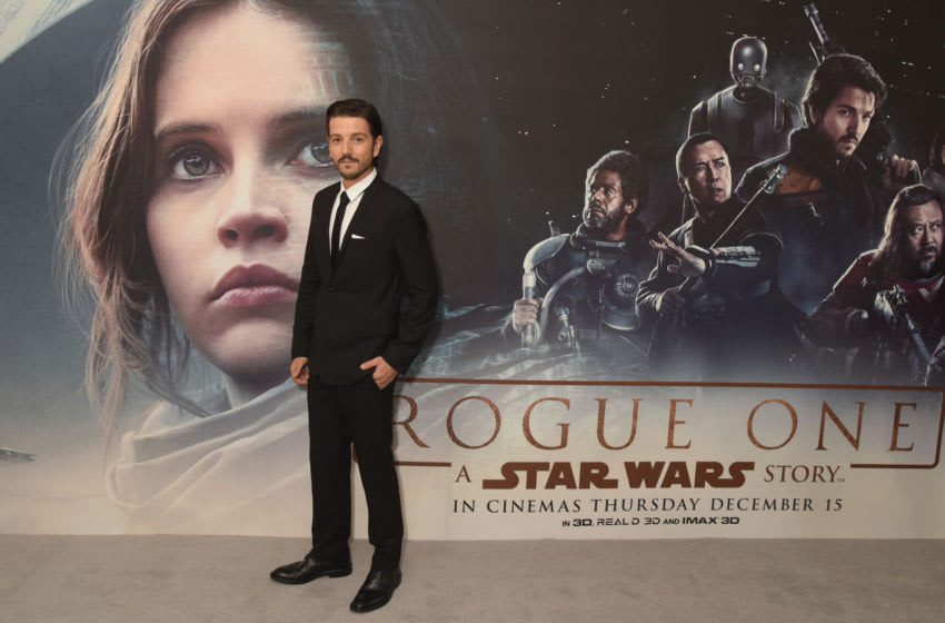 LONDON, ENGLAND - DECEMBER 13: Diego Luna attends the exclusive fan screening of