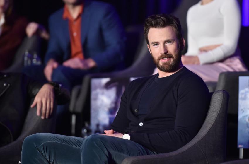 LOS ANGELES, CA - APRIL 07: Chris Evans speaks onstage during Marvel Studios'