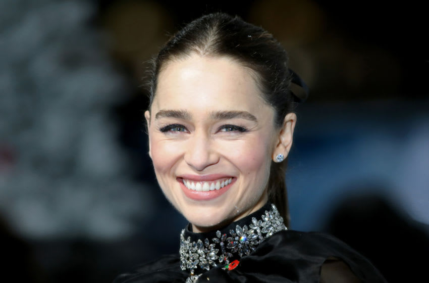 LONDON, ENGLAND - NOVEMBER 11: Emilia Clarke attends the