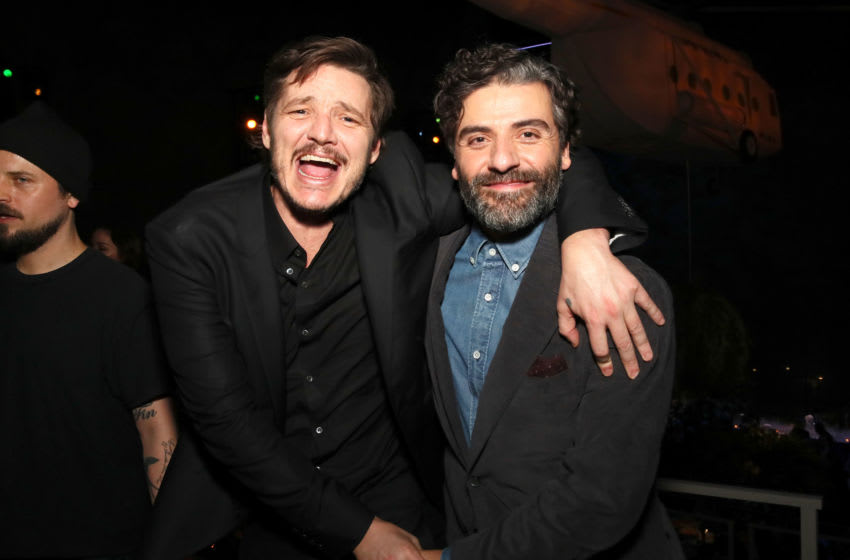 NEW YORK, NEW YORK - MARCH 03: Pedro Pascal and Oscar Isaac attend Netflix World Premiere of TRIPLE FRONTIER at Lincoln Center on March 03, 2019 in New York City. (Photo by Astrid Stawiarz/Getty Images for Netflix)
