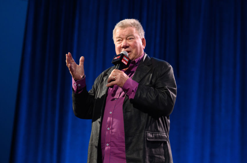 CHICAGO, ILLINOIS - MARCH 1: William Shatner speaks on stage during C2E2 Chicago Comic & Entertainment Expo at McCormick Place on March 1, 2020 in Chicago, Illinois. (Photo by Daniel Boczarski/Getty Images)