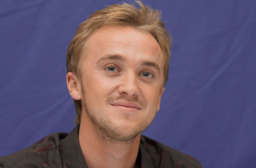 LONDON, UK - NOVEMBER 13: Tom Felton poses for a photo during a portrait session in London, England, UK on November 13, 2010. (Photo by Munawar Hosain/Fotos International/Getty Images) Reproduction by American tabloids is absolutely forbidden.