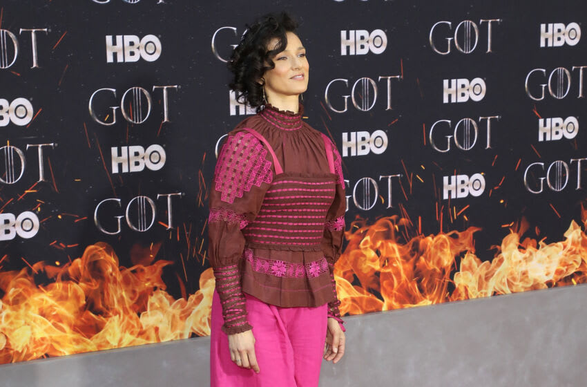 NEW YORK, NY - APRIL 03: Indira Varma attends the Season 8 premiere of