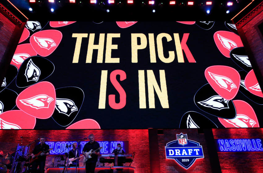 NASHVILLE, TENNESSEE - APRIL 25: A general view as the Arizona Cardinals make their #1 overall draft pick during the first round of the 2019 NFL Draft on April 25, 2019 in Nashville, Tennessee. (Photo by Andy Lyons/Getty Images)