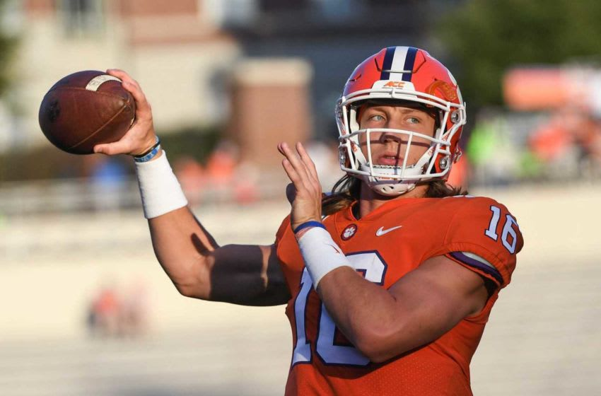 Clemson quarterback Trevor Lawrence said he will turn pro after this season. Clemson Vs Charlotte Tiger Walk And Fans