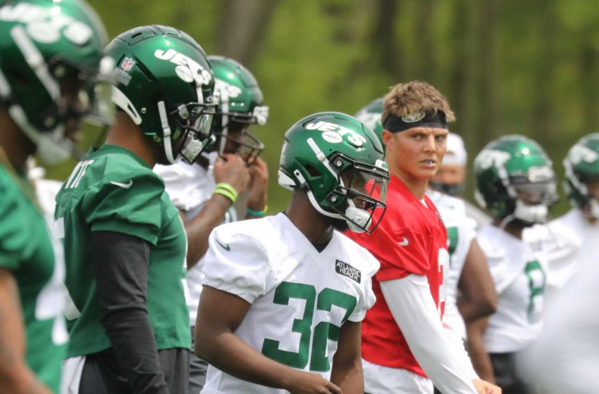 Fourth round draft pick MichaelCarter and quarterback Zach Wilson at the NY Jets.