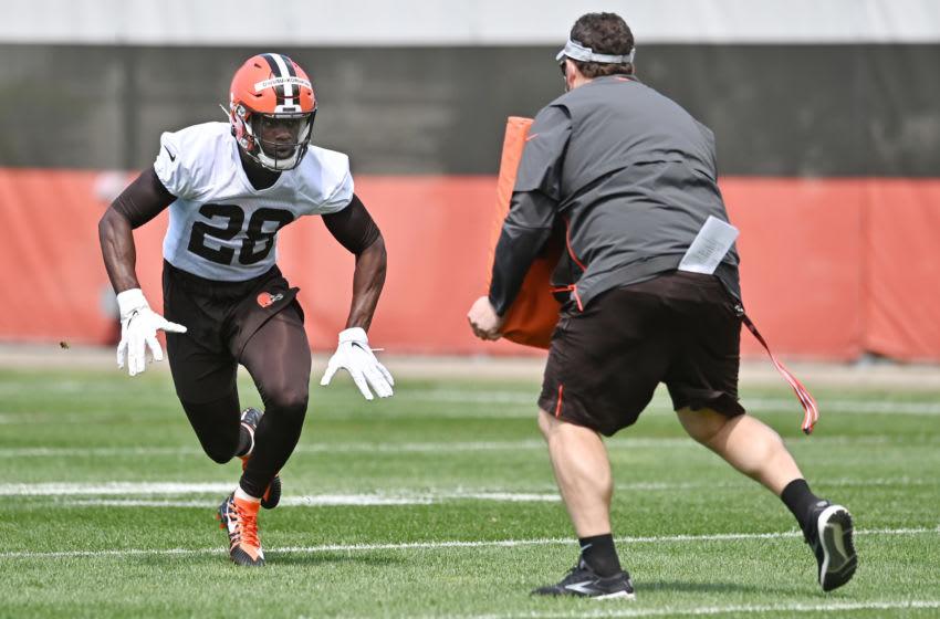 Cleveland Browns linebacker Jeremiah Owusu-Koramoah (28). Mandatory Credit: Ken Blaze-USA TODAY Sports