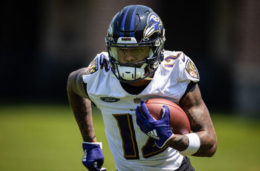 Baltimore Ravens wide receiver Rashod Bateman (12). Mandatory Credit: Scott Taetsch-USA TODAY Sports