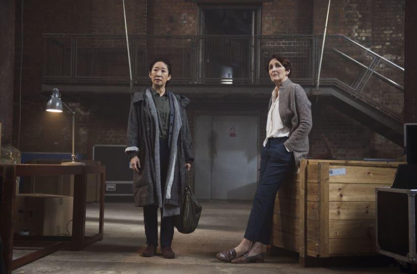 Sandra Oh as Eve Polastri, Fiona Shaw as Carolyn Martens- Killing Eve _ Season 2, Episode 6 - Photo Credit: Parisa Taghizadeh/BBCAmerica